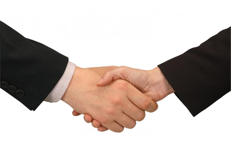 Handskas med andra företag
